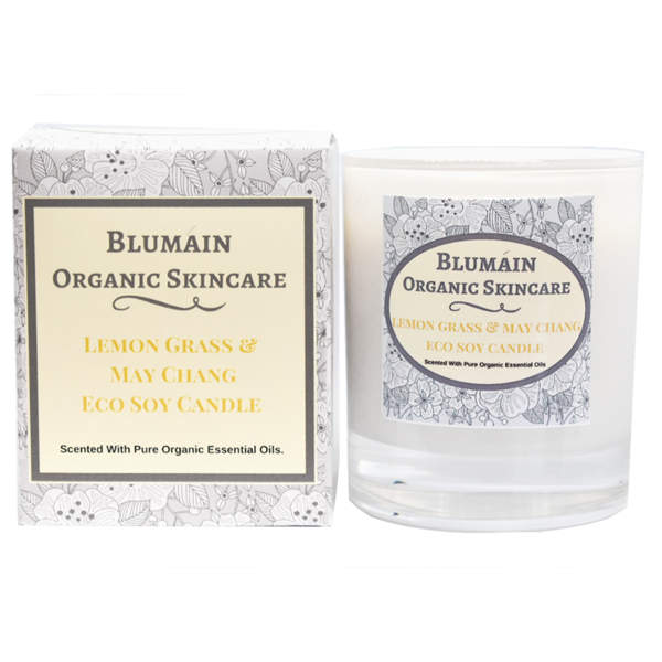 LEMON GRASS & MAY CHANG ECO SOY CANDLE with box